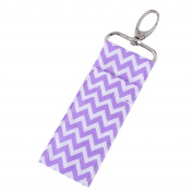 Walfront Lipstick Holder Keychain, Lip Balm Holder Keychain, Chapstick Pouch Strap Key Ring Bag Mothers Girls Gift