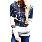 Quistal Christmas Hoodie, Women Dots Print Xmas Hooded Pullover Sweatshirt with Pockets