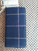 Joules Fairford Tweed Purse Navy Cheque