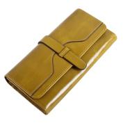 BIUBIUboom Women PU Leather Clutch Wallet Card Holder Organiser Ladies Purse
