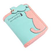 timeracing Fashion Cute Ladies Carton Cat Pandent Short Long Purse Card Holder Zipper Coin Bag Wallet