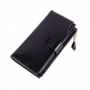 BIUBIUboom Women's Large Capacity PU Leather Wallet Card Holder Ladies Purse