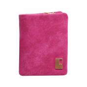 timeracing Fashion Elegant Women Ladies Matte Faux Leather Zipper Hasp Short Clutch Wallet Coin Purse Card Handbag