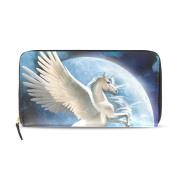 Womens Pegasus Unicorn Pattern Long Wallet & Purse Case Card Holder