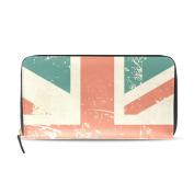 Womens Grungy UK Flag Pattern Long Wallet & Purse Case Card Holder