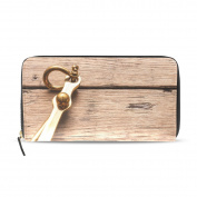 Womens Anchor On Wood Background Pattern Long Wallet & Purse Case Card Holder
