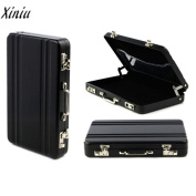 Men Women Slim Metal Mini Suitcase Business Card Case