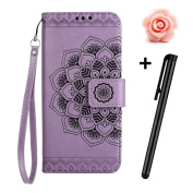 TOYYM iPhone 6 Plus/6S Plus Case,iPhone 6 Plus/6S Plus Flip Case,Retro Mandala Flower Design Slim Fit PU Leather Flip Cover Wallet Case [Card Slots][Stand Feature][Magnetic Closure],Bookstyle Full Body Protection Case Cover for Apple iPhone 6 Plus/6S P ..