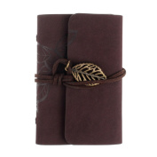 Fashion Practical Golden Leaf Leaves Women Bovake Brown Leather Business Credit ID Card Holder Case Wallet CO