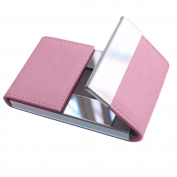 squarex Noble Pink Credit Card Package Card Holder Double Open Business Card Case