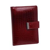 Jennifer Jones - präsentiert von ZMOKA® WomenBusiness Card Holder red Rubin Rot