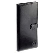 Compagnon - Porte chéquier homme ou femme - cuir vachette noir, cadeau femme ou homme
