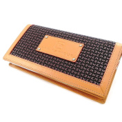 Zipped wallet + chequebook holder 'Ted Lapidus'brown.