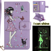 Huawei Nova Plus Case , COOSTOREEU Premium PU Leather Wallet Case with [Kickstand] [Card Slots] [Magnetic Closure] [Luxurious Hand Strap] Flip Notebook Case for Huawei Nova Plus, Light Purple