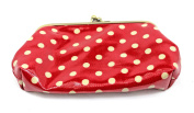Cath Kidston Clasp Purse Little Spot Red Easy Clean Coin Wallet Retro Style NEW