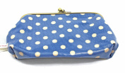 Cath Kidston Clasp Purse Little Spot Blue Easy Clean Coin Wallet Retro Style NEW