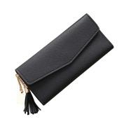 squarex Lovely Women Simple Short Wallet Tassel Coin Purse Card Holders Handbag