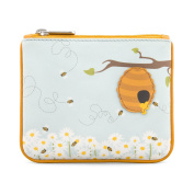 Y by Yoshi Honey Bee Zip Top Leather Purse