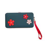 Good01 Ladies Elegant Flowers Faux Leather Wallet Long Purse Phone Cash Card Holder