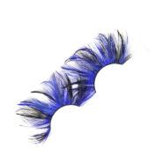 MENRY Handmade Colour Feather False Eyelashes, Masquerade Dance Stage Special False Eyelashes
