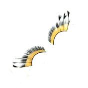 MENRY Exaggerated Art Feather False Eyelashes, Pretending to Dance Stage Special False Eyelashes