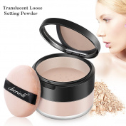 Translucent Loose Setting Powder - Oil Control & Prevent Sweating Finishing Powder, Convertible Ring Whitening and Moisturising Three in One Loose Face Powder