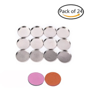 uhoMEy 26mm Small Empty Round Tin Pans for Eyeshadow Powder Responsive to Magnets