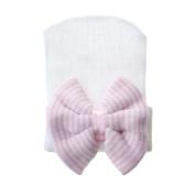 Pinzhi Newborn Baby Infant Girl Toddler Comfy Bowknot Hospital Cap Beanie Hat Cute