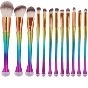 Kfnire 12pcs Make Up Foundation Eyebrow Eyeliner Blush Cosmetic Concealer Brushes
