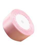 DIKEWANG Useful 4CM Double Sided Grosgrain Ribbon Cuts Gift Packaging Silk Ribbon,Perfect For Card Making,Headpieces,Bows,Crafts,Weddings,Birthdays,Christmas Gift Decoration (Hot Pink)