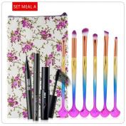 HKFV Unique Charming Eyes Makeup Set Design Makeup Brushes Cosmetic Makeup Brush Brushes Beauty Gourd Mascara Eyeliner Set Kit