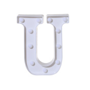 DIKEWANG Newest LED Lumious Alphabet Letter Lights Light Up White Plastic Letters Standing Hanging Indoor Use, Home, Shopwindow, Club, Christmas Party And Holiday Decoration(A-Z)