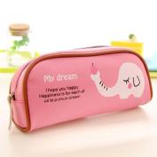 Pencil Case,GOODCULLER Students Animal Paradise Canvas Pencil Case Travel Makeup Bags
