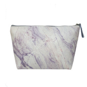 TaylorHe Make-up Bag Cosmetic Case Toiletry Bag Printed PVC zipped top Elegant Marble Texture