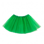 Tinksky Kids Tutu Skirt 3 Layers Christmas Tutu Petticoat for Girls Ballet Dressing Up Princess Party Costume Favour St.Patrick's Day Party Supplies