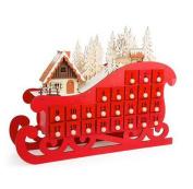 Santa's Sleight Wooden Advent Calendar