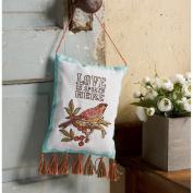 Stamped Embroidery Door Hanger Kit 13cm x 18cm -Waverly-Charleston Chirp