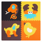 Interlocking Foam Baby Play Mat Tiles-Non-Toxic,Extra Large Thick Floor Squares (123 x 123 x 2cm)Unisex Playroom & Nursery Mat Safe & Protective For Infant,Toddler,Kids meiqicool 046