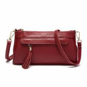 Single shoulder messenger bag fashion female bag leather simple handbag leisure head layer cowhide single shoulder messenger bag, 24*5*13.5cm