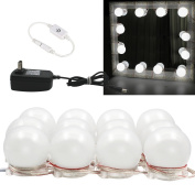 Binen Hollywood Style LED Vanity Mirror Lights Kit Dressing Table Light, Mirror LED Light with Power Supply and Touch Dimmer Switch