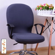 Zerci Office Computer Floral Rotating Chair Cover Chairs Stretch Slipcovers