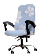Zerci Swivel Computer Chair Cover Stretch Office Spandex Armchair Protector Seat Decor