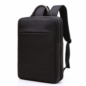 Square computer bag, 40cm business travel schoolbag for College Students,black