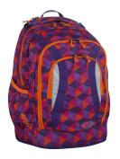 Yzea School Backpack Rucksack Go Cone 621059 Purple with Address Tag Bowatex