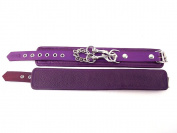 Rouge Garments One Size Purple Plain Wrist Cuff