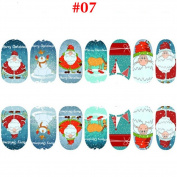 Red Green White Christmas Style Nail Stickers Snowflakes Christmas Trees Deers Gifts Santa Claus Nail Decals by UmayBeauty