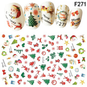 3D Christmas Nail Stickers Self Adhesive Nail Decals by UmayBeauty