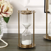 European hour glass ornaments Retro metal spinning hourglass timer 30 minutes birthday gift ornament ornaments-A