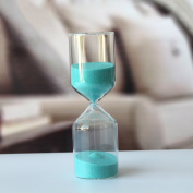 cylinder 30 minutes Clocks Hourglass glass Home decoration my friends-B