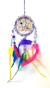 Dream Catcher - Pretty Pink, Purple, Blue Beaded Ring - Multi-Coloured Feathers ~All Items Dispatched Same Day ~ Royal Mail ~ When Purchased Before 1pm Mon – Fri